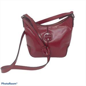 Franco Sarto Purse Crossbody Leather Red